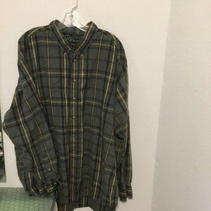 Plaid soft  grey button down XXL